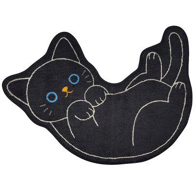 日本 可愛小黑貓 貓咪 柴犬 小狗 三花貓 喵星人造型地墊 浴室廁所 腳踏墊 門墊 門口玄關踏墊 地毯 門毯 日式門墊