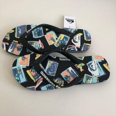 《現貨》QUIKSILVER 澳洲 男生 海灘拖鞋 US7,US8,US10( MOLOKAI VACANCY 人字夾腳拖鞋-黑色)