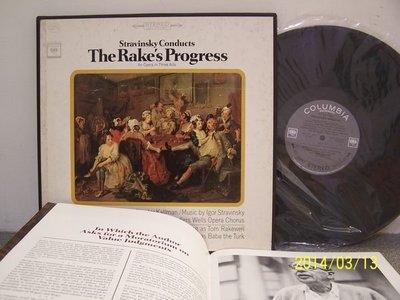【CBS LP名盤】2345-1.史特拉汶斯基:The rske's progress,史特拉汶斯基指揮,3LP,2隻眼