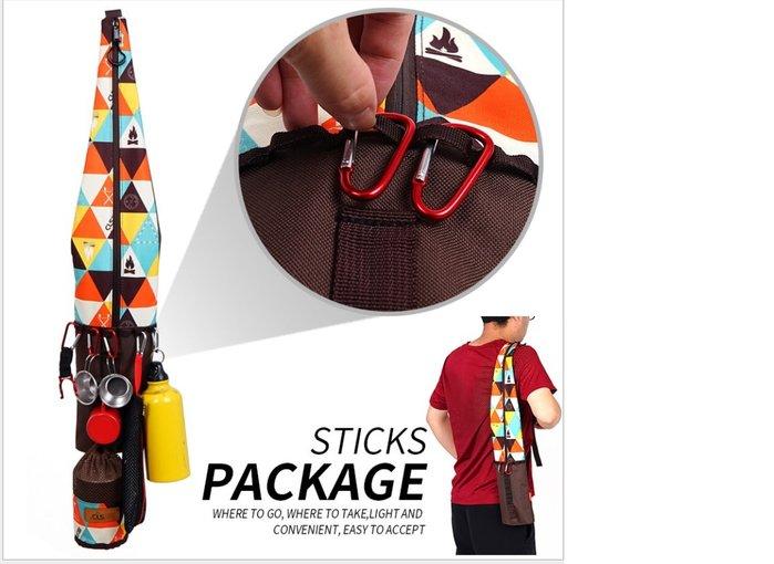 [凱溢露營用品] 戶外防水登山杖背包 折疊便攜拐杖收納袋 登山杖包 多功能垂釣魚竿收納包