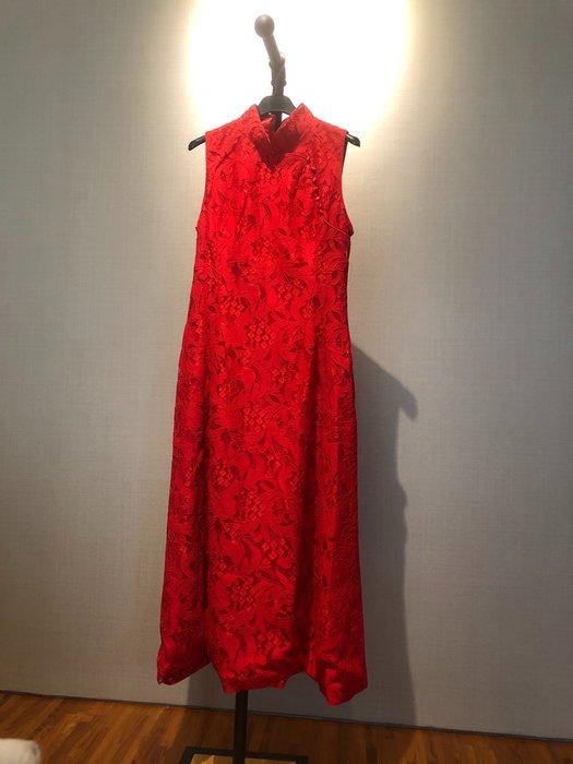 Selina 精品 訂製禮服  小禮服 中式改良款 蕾絲 雪紡 訂婚 晚宴 春酒 宴會 都適宜
