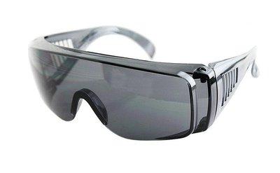 騎車防風沙護目鏡 防護眼鏡 運動眼鏡 安全眼鏡 醫療實驗休閒運動工程生存遊戲,灰片抗強光, 抗UV380, 可帶近視眼鏡
