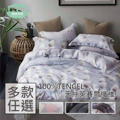 §同床共枕§ 100%TENCEL天絲萊賽爾 雙人5x6.2尺 薄床包薄枕套三件式組-多款任選