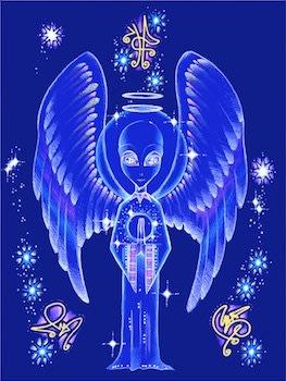 [心靈之音] #164 使者(天使地外存有)The Messenger -能量催化圖-美國原裝進口附中文說明