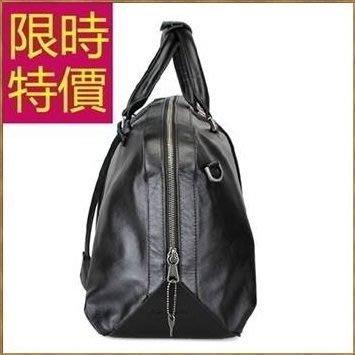真皮旅行袋-萬用可肩背時尚百搭男手提包2色59c49[義大利進口][米蘭精品]