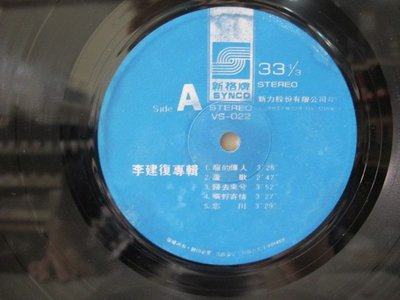 二手舖 NO.1352 黑膠唱片 李建復 龍的傳人 裸片