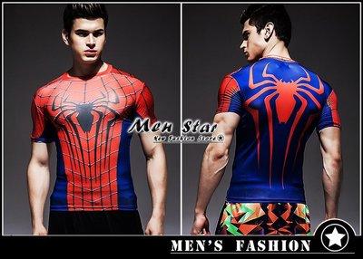 【Men Star】免運費 復仇者聯盟3 蜘蛛人 蜘蛛裝備服 彈力運動衣 媲美 Dickies SMUDGE SQUAD