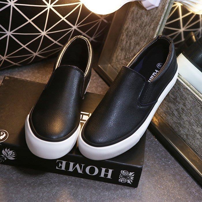 【Q比花園】C韓妞必備懶人鞋休閒深口樂福鞋厚底鞋