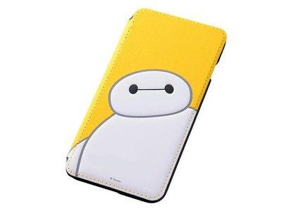 尼德斯Nydus~* 日本迪士尼 大英雄天團 杯麵 Baymax 翻頁皮套 手機殼 5.5吋 iPhone6+ 黃色