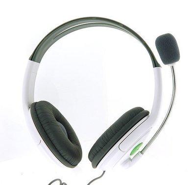 (出清商品)XBOX360 副廠 頭戴式 雙耳 大耳機 麥克風 耳麥 手把下方連接孔 對戰通話使用 非遊戲背景聲 台中