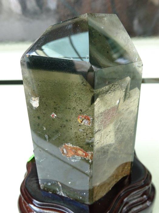 ~shalin-crystal~綠幽靈水晶能量柱~726公克~主正偏財~紋路特殊~稀有珍藏~低價起標!