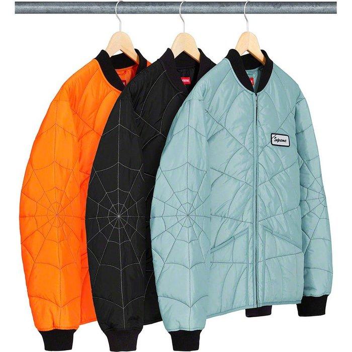 【美國鞋校】預購 Supreme SS19 Spider Web Quilted Work Jacket 夾克