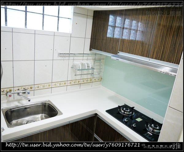 【雅格櫥櫃】工廠直營~L型廚櫃、流理台、結晶鋼烤、喜特麗三機、拉藍、側拉、鋁抽