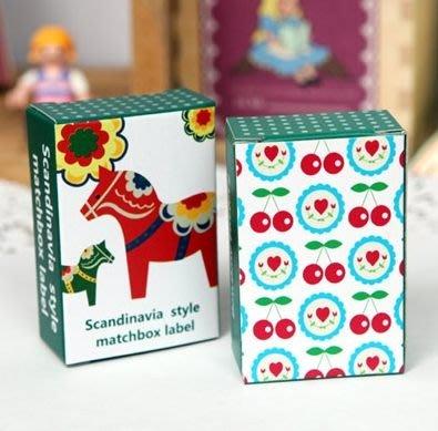 【象牙cute ta】韓國 Scandinavia style matchbox label  創意火柴盒貼紙