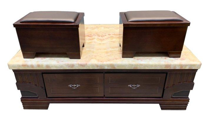 宏品二手家具館 台中全新中古家具拍賣 JZ1119iE*全新胡桃大理石茶几 泡茶桌*客廳桌椅 電視櫃 書櫃酒櫃