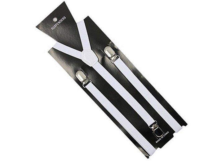 【幸福2次方】男女通用 高質感西裝吊帶 韓版彈性夾背帶 可調節吊帶 寬1.5cm - 多色可選