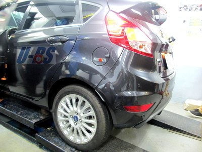 Ford Fiesta 後碟 機構 鼓改碟 卡鉗 碟盤 U-BS後碟專業機構