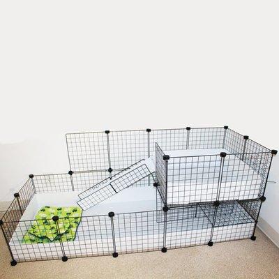 兔籠荷蘭豬籠子豚鼠DIY網片雙層別墅天竺鼠專用防噴尿寵物兔子籠大號