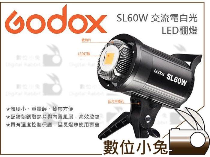 數位小兔【Godox 神牛 SL60W 白光 LED 棚燈+290CM燈架】攝影燈 補光燈 LED燈  持續燈 公司貨