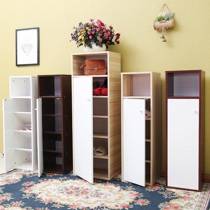 門口鞋櫃簡易簡約現代門廳櫃鞋架 多層實木經濟型省空間組裝 禮物