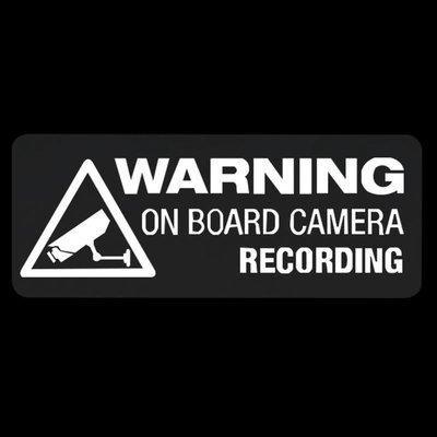 【CARLAND汽车百貨】WARNING ON BOARD CAMERA RECORDING監控汽車貼紙攝像頭車貼