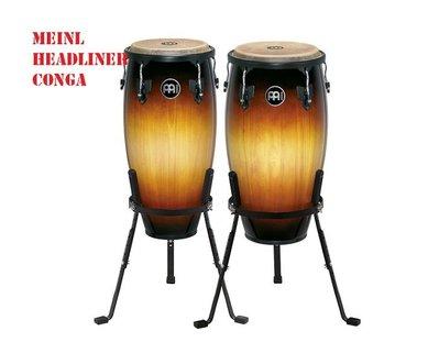 """[魔立樂器]  德國MEINL HEADLINER CONGA康加鼓 HC512 11""""+12"""" 緬甸橡木 獨立架 三色"""