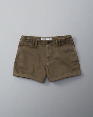 天普小棧】Abercrombie A&F High Rise 2 inch Chino Shorts反折休閒短褲熱褲26
