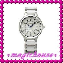 *夢幻精品屋*【可刷卡↘950】范倫鐵諾《不鏽鋼高級精密陶瓷錶》女白-現貨搶購中!