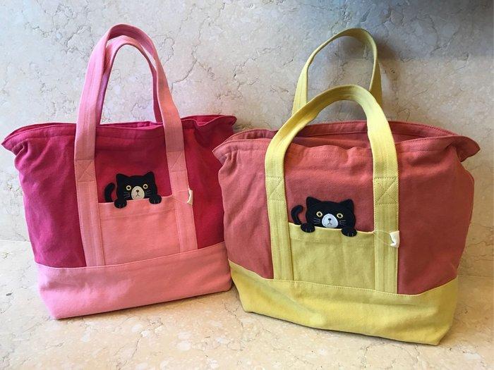 日本卡拉貓~咪咪黑貓防水托特包手提包