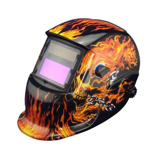 全新 焊接變光面罩太陽能自動變光變色液晶電焊面罩焊鏡適用氬焊及各種焊接M120焰火
