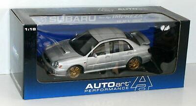 (全新未拆封) AUTOart 1/18 Subaru New Age Impreza WRX Sti 2001