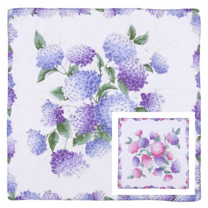 繡球花手帕