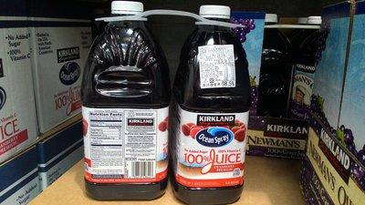 【日日小舖外送代購】好市多 Kirkland 蔓越莓綜合果汁 每組2.84公升*2 原汁含有率:98.5% 美國產