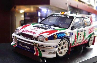 Autoart 1/18。Toyota Corolla WRC #5。原盒