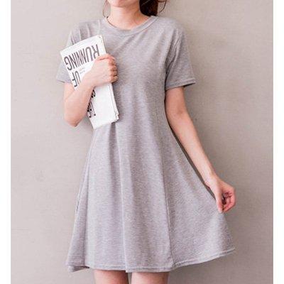【Hao Da】全館399免運↘「M~XL。現貨」傘狀 彈力棉質 洋裝 (P1137)