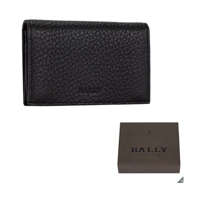 正品 Bally 名片夾 牛皮 品牌經典款 附專櫃正品 原廠紙盒