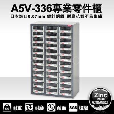 【兩組免運含發票】樹德 A5大容量36格 零件櫃 A5V-336 ( 收納 抽屜 櫃)