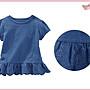 【童夢屋】OshKosh 藍色短袖洋裝.短袖洋裝....