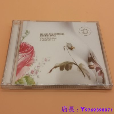 全新CD音樂 舒曼1-4交響曲全集 Simon Rattle 西蒙.拉特 柏林愛樂樂團 2CD