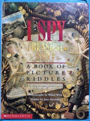 二手 英文童書 原文書 I Spy Treasure Hunt 精裝
