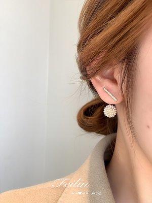 珠寶首飾正品~珍珠耳釘耳環2021年新款潮小眾設計感高級法式輕奢氣質網紅耳飾女