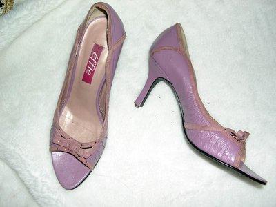 @╮全面淨空大特賣╭@五十一元亂亂標~~粉色時尚別緻高跟鞋