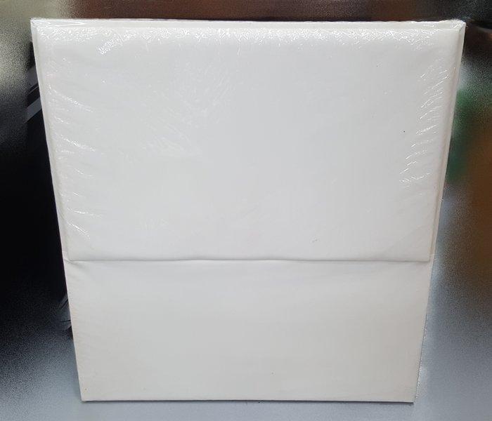 宏品二手家具館 台中柚木傢俱賣場 B60610白色皮革3尺床頭片/ 床頭板*2手家具拍賣床組 床箱 衣櫥 斗櫃 化妝桌
