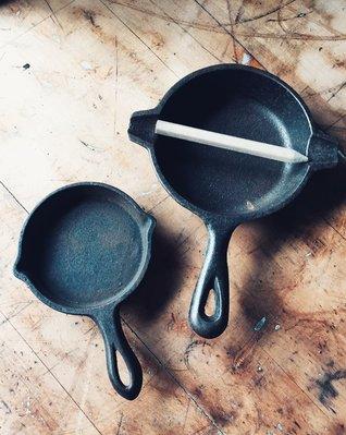 美國鑄鐵鍋模型/擺飾老物/復古收藏