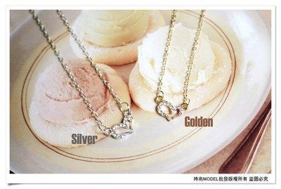 ☆批發☆《B1-00129》特價*銀色*璀璨閃耀光芒愛心水鑽項鍊