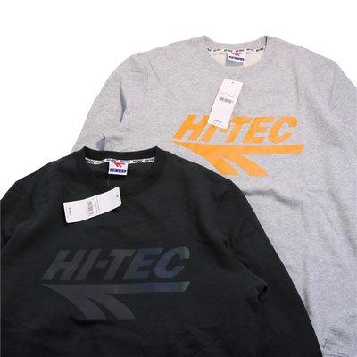 Cover Taiwan 官方直營 HI-TEC 嘻哈 雷射 反光 漸層 長袖 大學T 灰黑色 橘色 大尺碼 (預購)