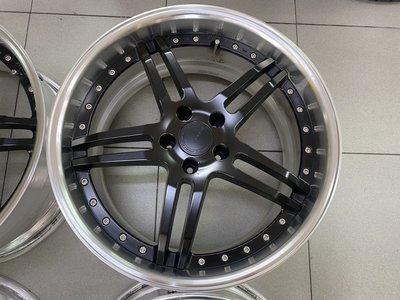 正品 日本製 WORK GNOSIS GR205 2片式 20吋鋁圈 5孔114.3 10J ET32 消光黑深唇