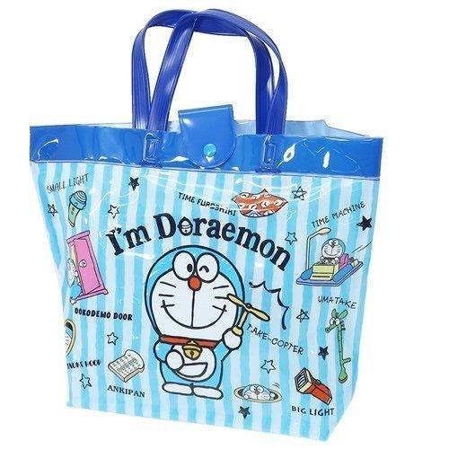 【東京速購】哆啦A夢 小叮噹 防水袋 防水包  直條藍