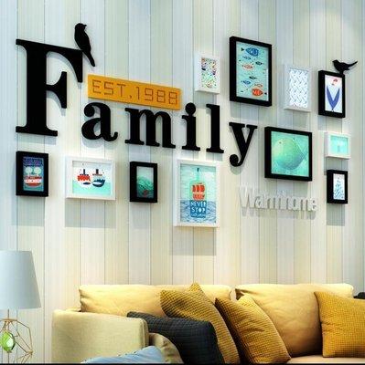 『格倫雅』歐式照片墻簡約現代相框墻 小清新客廳臥室創意 相框掛墻組合^15526