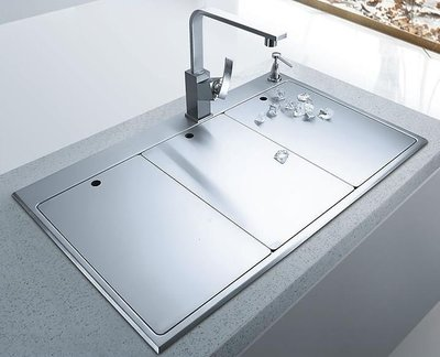 廚房好美麗 不鏽鋼 無鉛 SUS 304  18-8 手工 焊接 油磨拉絲 3D雙槽  手工 水槽